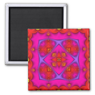 Kaleidoscope Kreations Neon No 1 Square Magnet