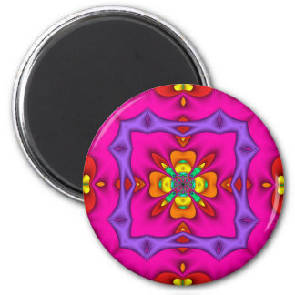 Kaleidoscope Kreations Neon No 2 6 Cm Round Magnet
