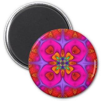 Kaleidoscope Kreations Neon No 4 6 Cm Round Magnet