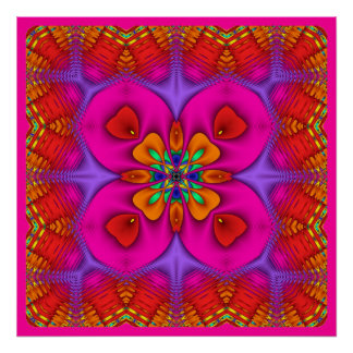 Kaleidoscope Kreations Neon No 4 Poster