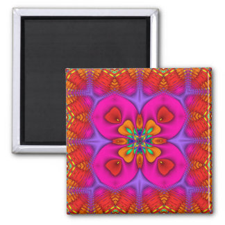 Kaleidoscope Kreations Neon No 4 Square Magnet