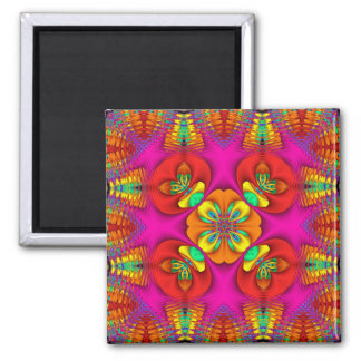 Kaleidoscope Kreations Neon Purr Square Magnet