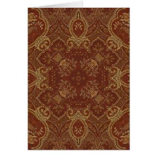 Kaleidoscope Kreations Rust Tapestry 2 Card