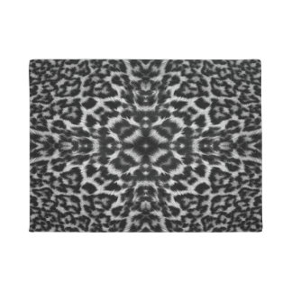 Kaleidoscope leopard skin fur pattern doormat