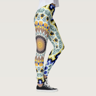 Kaleidoscope Mandala in Portugal: Pattern 224.3 Leggings