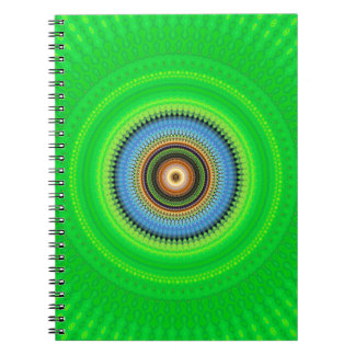 Kaleidoscope Mandala in Portugal: Pattern 224.5 Spiral Notebook