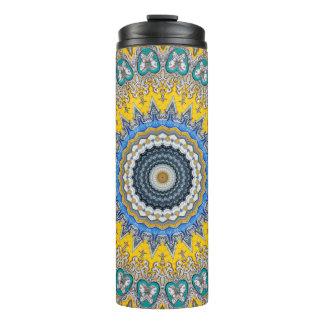 Kaleidoscope Mandala in Portugal: Pattern 224.8 Thermal Tumbler