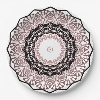 Kaleidoscope , mandala paper plate