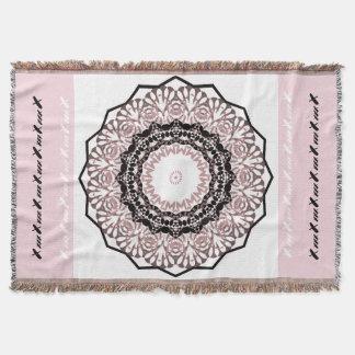Kaleidoscope , mandala throw blanket