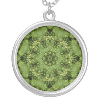 Kaleidoscope Meditate Olive Green Clover Necklace