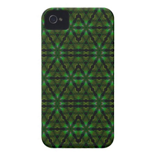 Kaleidoscope Meets Spirograph Green Theme iPhone 4 Case-Mate Case