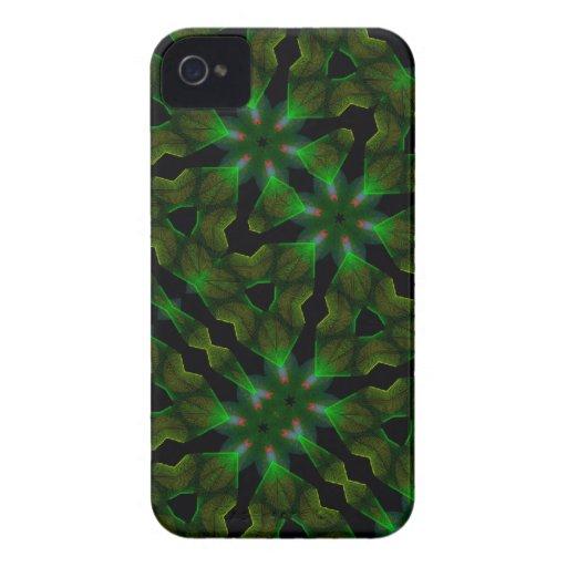 Kaleidoscope Meets Spirograph Green Theme III iPhone 4 Cases