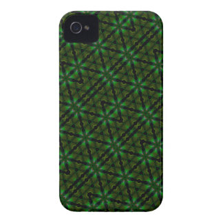 Kaleidoscope Meets Spirograph Green Theme Too iPhone 4 Cover