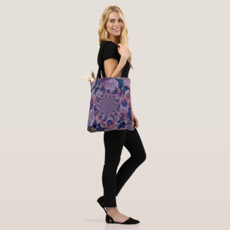 Kaleidoscope Muted Purple And Pink Balloons Tote Bag