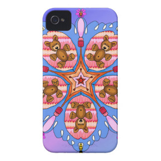 Kaleidoscope of bears and bees Case-Mate iPhone 4 case