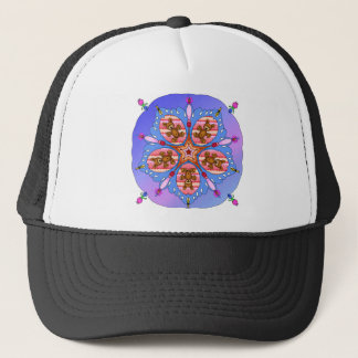 Kaleidoscope of bears and bees trucker hat