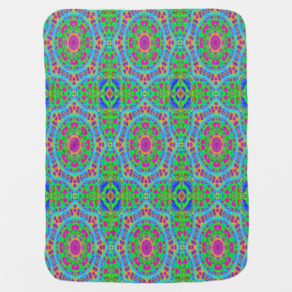 Kaleidoscope of Colors and Shapes Baby Blanket