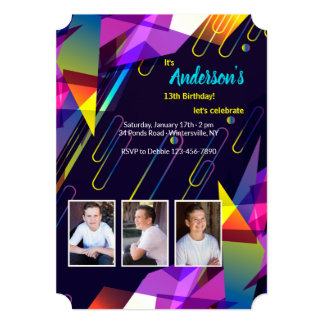 Kaleidoscope of Colors Photo Invitation
