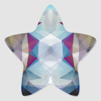 Kaleidoscope of Colors Star Sticker