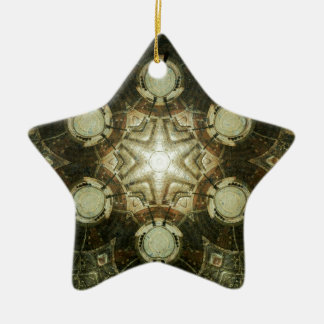 Kaleidoscope of Dowtown Kansas City Library Ceramic Ornament