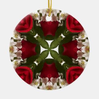 Kaleidoscope of Roses Round Ceramic Decoration