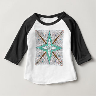 Kaleidoscope of winter trees baby T-Shirt