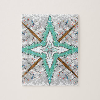 Kaleidoscope of winter trees jigsaw puzzle