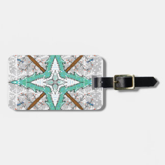 Kaleidoscope of winter trees luggage tag