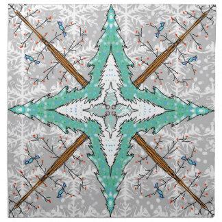Kaleidoscope of winter trees napkin
