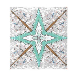 Kaleidoscope of winter trees notepad
