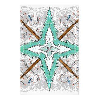 Kaleidoscope of winter trees stationery