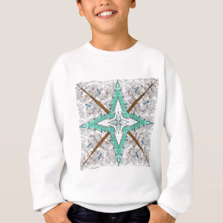 Kaleidoscope of winter trees sweatshirt