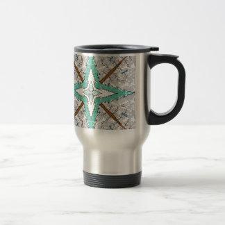 Kaleidoscope of winter trees travel mug