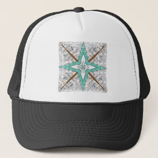 Kaleidoscope of winter trees trucker hat