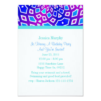 Kaleidoscope Party Invitations