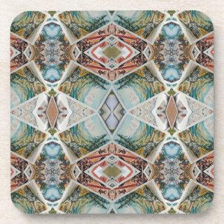 kaleidoscope pattern coaster