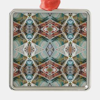 kaleidoscope pattern metal ornament