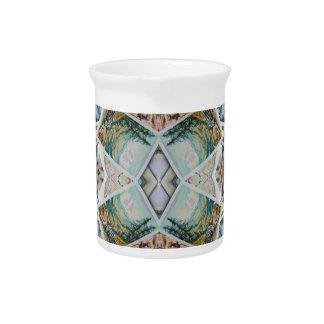 kaleidoscope pattern pitcher
