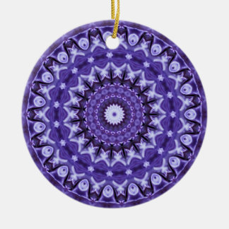 Kaleidoscope Purple Silk Ceramic Ornament