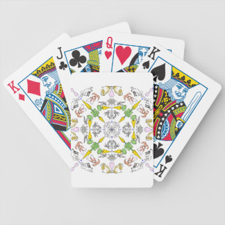 Kaleidoscope rabbits bicycle playing cards