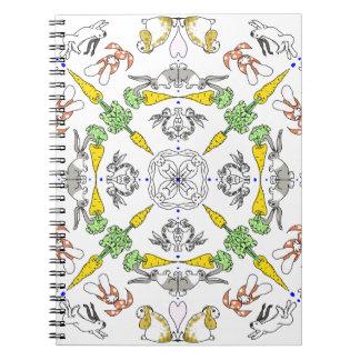 Kaleidoscope rabbits notebooks