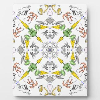 Kaleidoscope rabbits plaque