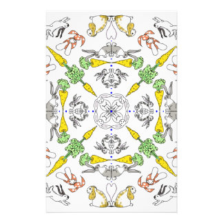 Kaleidoscope rabbits stationery