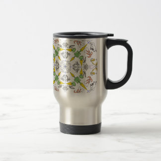 Kaleidoscope rabbits travel mug