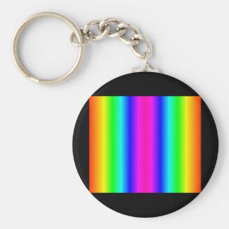 Kaleidoscope Rainbow Basic Round Button Key Ring