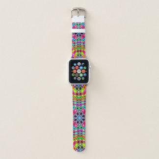 Kaleidoscope Rainbow Mosaic Stained Glass Apple Watch Band