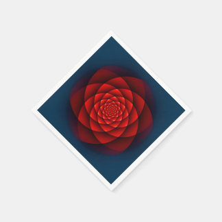 Kaleidoscope ROSE red Paper Napkin