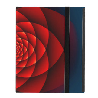 Kaleidoscope ROSE red + your idea iPad Cases