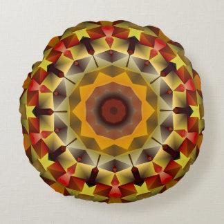 Kaleidoscope Russet Round Accent Pillow