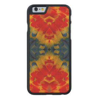 Kaleidoscope Scarlet Macaw design Carved® Maple iPhone 6 Case